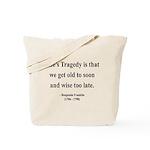 Benjamin Franklin 11 Tote Bag
