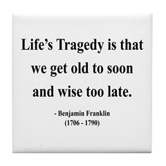 Benjamin Franklin 11 Tile Coaster