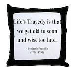 Benjamin Franklin 11 Throw Pillow