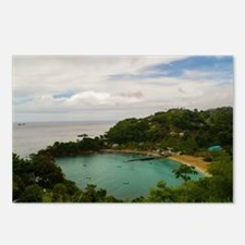 Scenic caribbean beach Postcards (Package of 8)