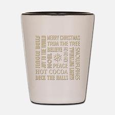 CHRISTMAS WORDS Shot Glass