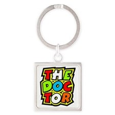 The Doctor Square Keychain