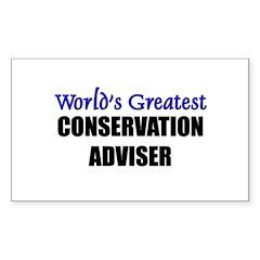 Worlds Greatest CONSERVATION ADVISER Decal