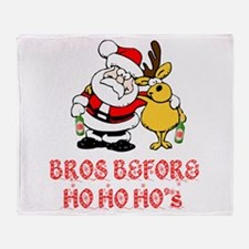 Santa And Rudolph Throw Blanket