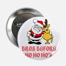 """Santa And Rudolph 2.25"""" Button (10 pack)"""