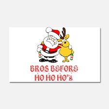 Santa And Rudolph Car Magnet 20 x 12