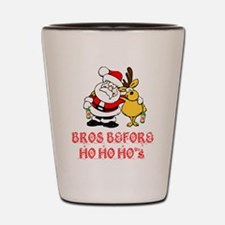 Santa And Rudolph Shot Glass