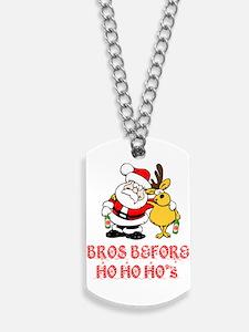 Santa And Rudolph Dog Tags