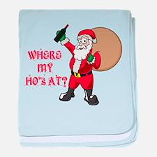 Santa's Ho''s baby blanket