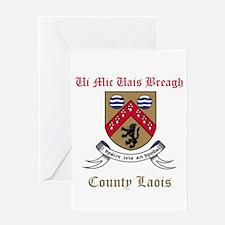 Ui Mic Uais Breagh - County Laois Greeting Cards