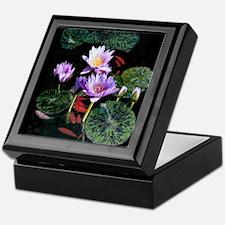 Blue Water Lilies Keepsake Box