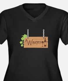 Winery Sign Plus Size T-Shirt