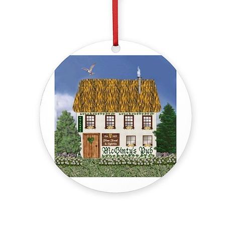 McGinty's Irish Pub Ornament (Round)