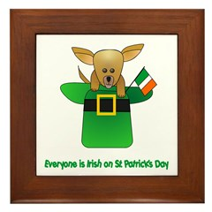 Everyone Is Irish Framed Tile