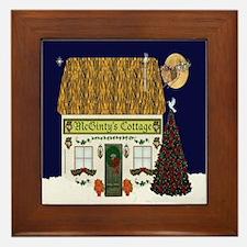 McGinty's Christmas Cottage Framed Tile