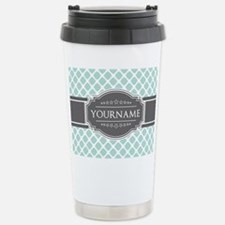 Mint and Gray Moroccan Thermos Mug