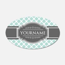 Mint and Gray Moroccan Quatr Wall Decal