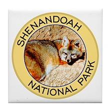 Shenandoah NP (Gray Fox) Tile Coaster