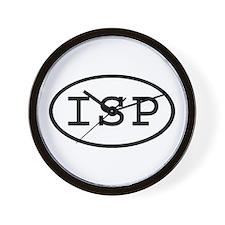 ISP Oval Wall Clock