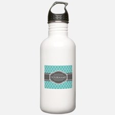 Turquoise and Gray Mor Water Bottle