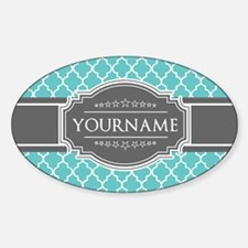 Turquoise and Gray Moroccan Q Decal