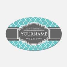 Turquoise and Gray Moroccan Wall Decal