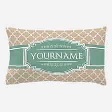 Chic Linen Moroccan Lattice Personaliz Pillow Case