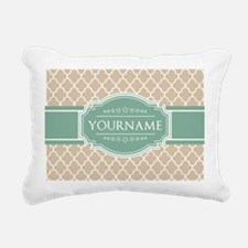 Chic Linen Moroccan Latt Rectangular Canvas Pillow