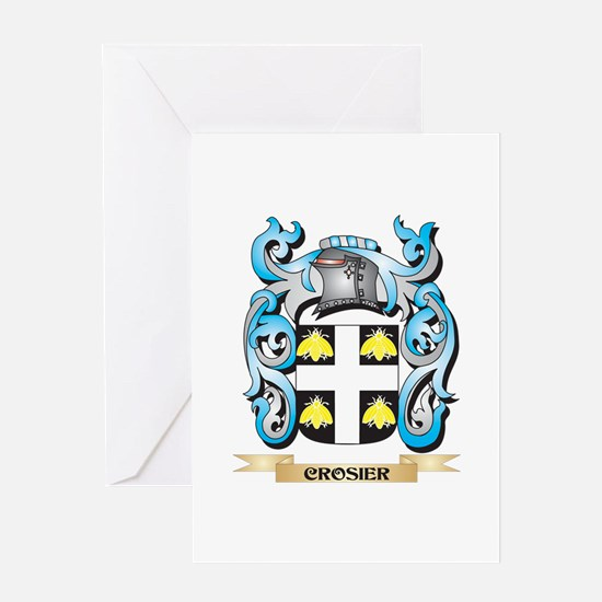 Crosier Coat of Arms - Family Crest Greeting Cards