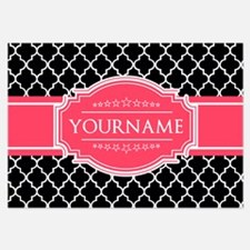 Black White Moroccan Hot Pink N Invitations