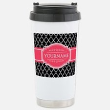 Black White Moroccan Ho Travel Mug