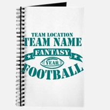 PERSONALIZED FANTASY FOOTBALL TEAL Journal