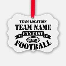 Your Team Fantasy Football Black Ornament
