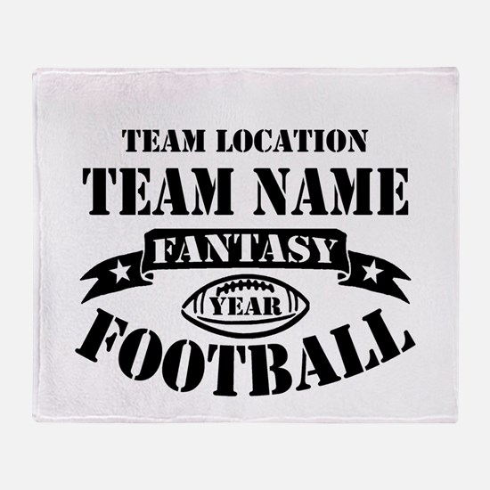 Your Team Fantasy Football Black Throw Blanket