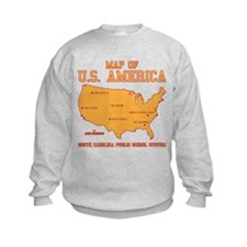 south carolina map of U.S. America Sweatshirt