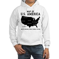 south carolina map of U.S. America Hoodie