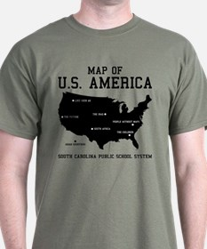south carolina map of U.S. America T-Shirt