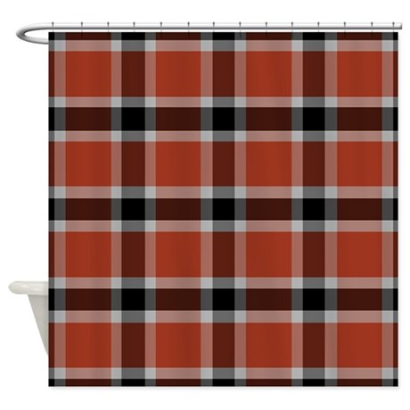 red black plaid shower curtain by decorateyourhome