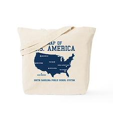 south carolina map of U.S. America Tote Bag