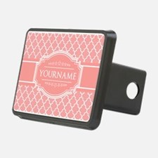 Personalized Coral Pink Qu Hitch Cover