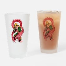 Iron Fist Red Dragon Drinking Glass