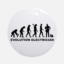 Evolution Electrician Round Ornament