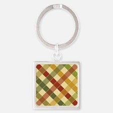 FALL PLAID ON ANGLE Keychains