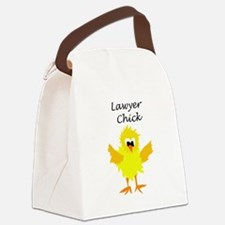 Funny Lawyer Chick Art Canvas Lunch Bag