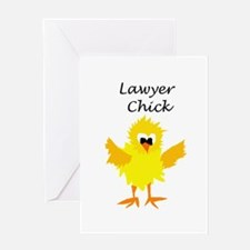 Funny Lawyer Chick Art Greeting Cards