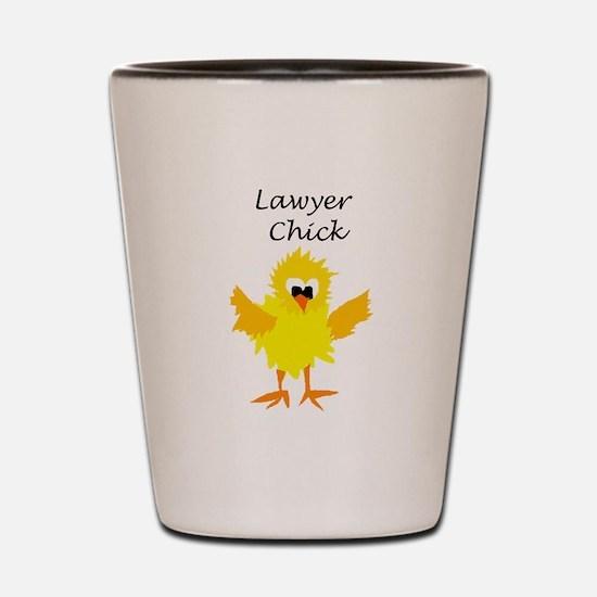 Funny Lawyer Chick Art Shot Glass