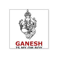 "Cute Ganesh Square Sticker 3"" x 3"""