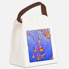 Funny Jellyfish Canvas Lunch Bag
