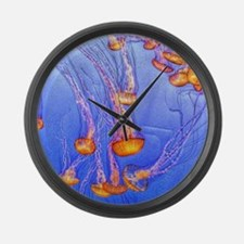 Funny Jellyfish Large Wall Clock
