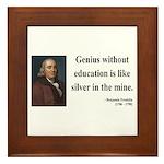 Benjamin Franklin 12 Framed Tile